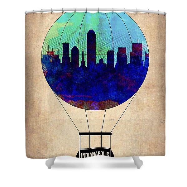 Indianapolis Air Balloon Shower Curtain