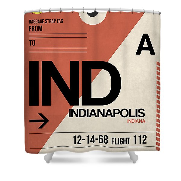 Indianapolis Airport Poster 1 Shower Curtain