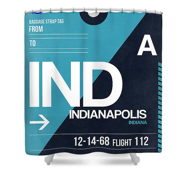 Indianapolis Airport Poster 2 Shower Curtain