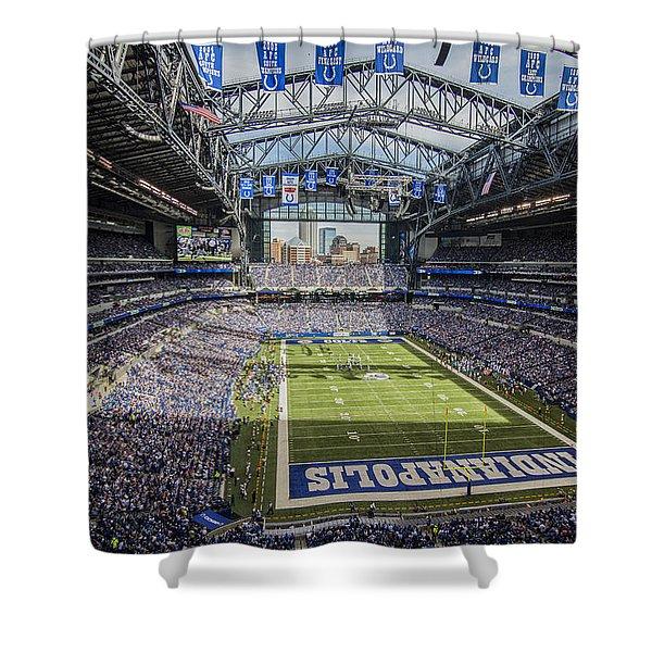 Indianapolis Colts Lucas Oil Stadium 3143 Shower Curtain