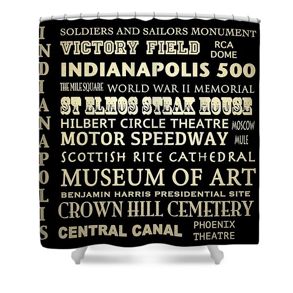 Indianapolis Famous Landmarks Shower Curtain