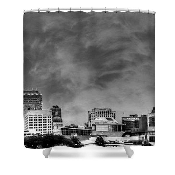 Indianapolis Indiana Skyline 0762 Shower Curtain
