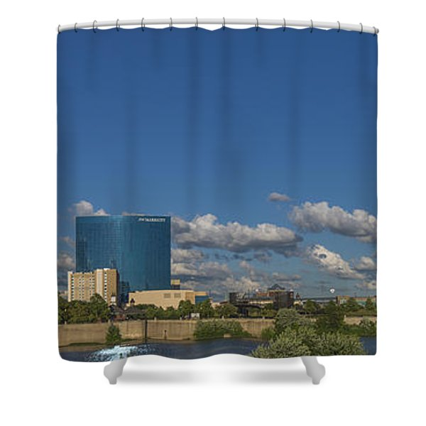 Indianapolis Indiana Skyline Pano 10 Shower Curtain