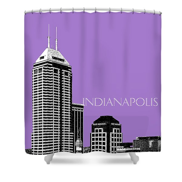 Indianapolis Indiana Skyline - Violet Shower Curtain