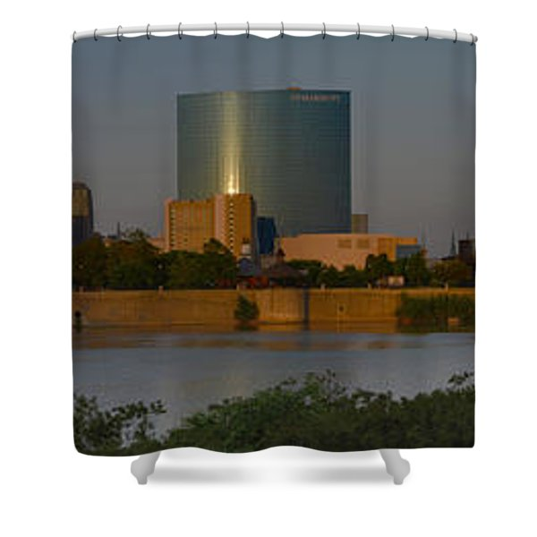 Indianapolis Indiana Sunset Panoramic Shower Curtain