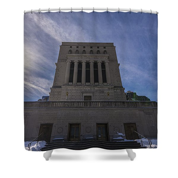 Indianapolis Indiana War Memorial Shower Curtain