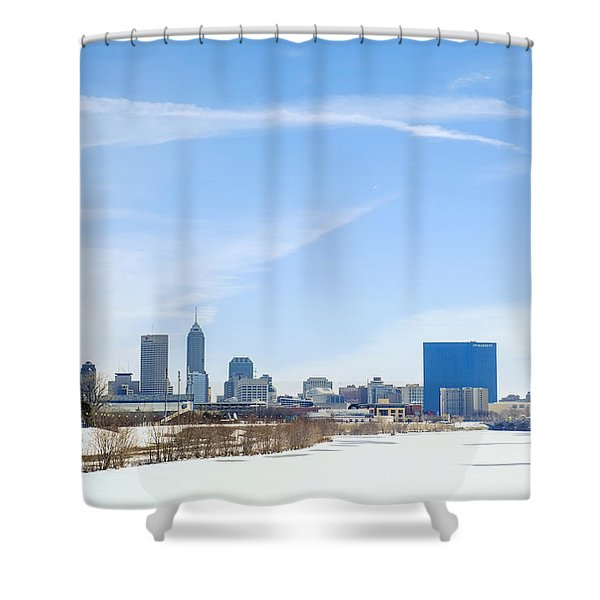 Indianapolis Indiana Winter Snow Shower Curtain