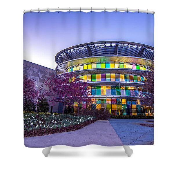 Indianapolis Museum Of Art Blue Hour Lights Shower Curtain