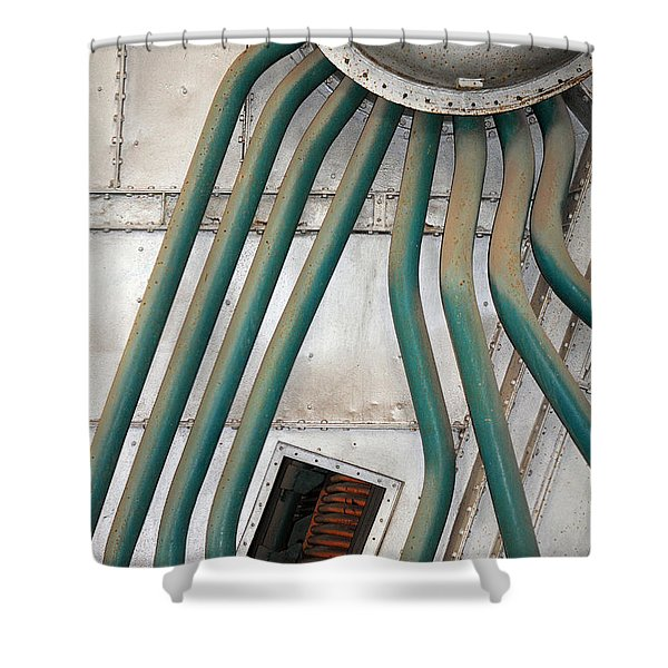 Industrial Art Shower Curtain