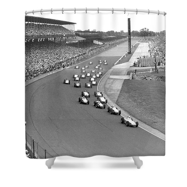 Indy 500 Race Start Shower Curtain