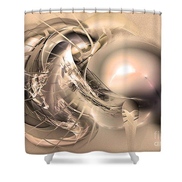 Initium - Abstract Art Shower Curtain