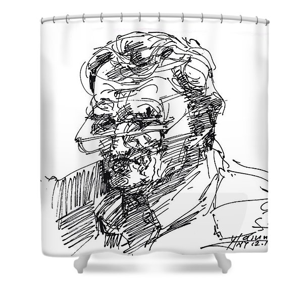 Ink Sketch Shower Curtain