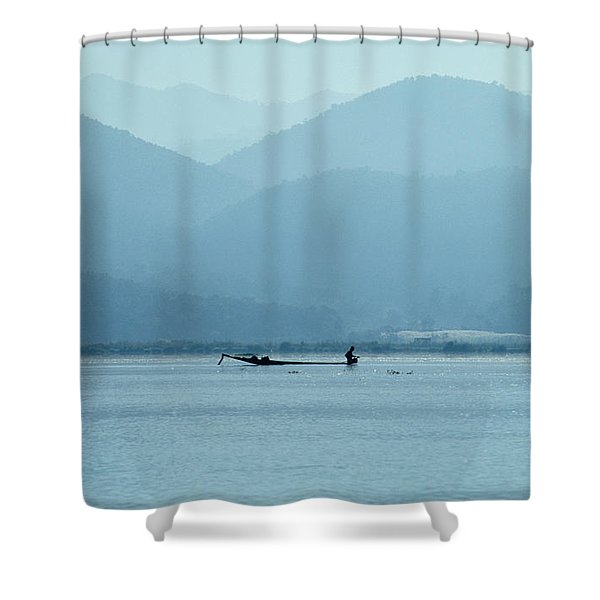 Inle Lake Shower Curtain