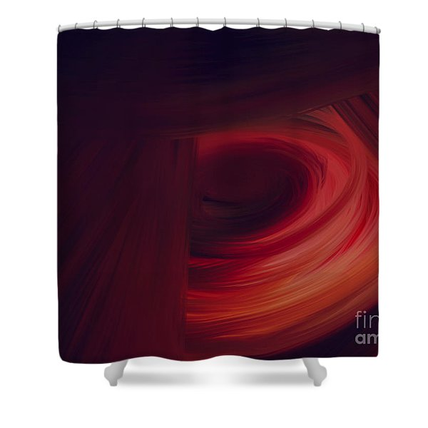 Inner Earth Shower Curtain