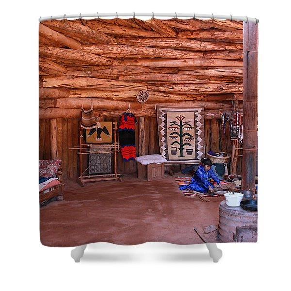 Inside A Navajo Home Shower Curtain