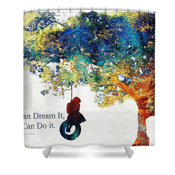 Inspirational Art - You Can Do It - Sharon Cummings Shower Curtain