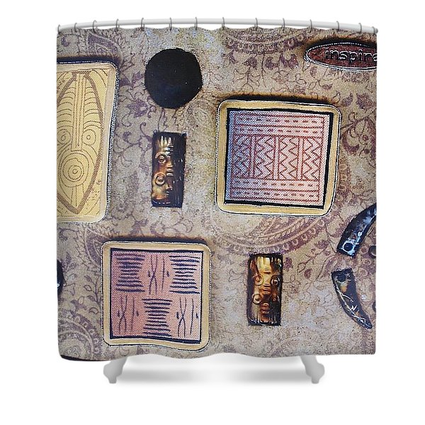 Inspire Collage Shower Curtain