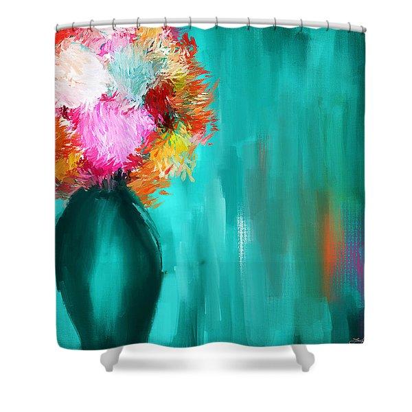 Intense Eloquence Shower Curtain