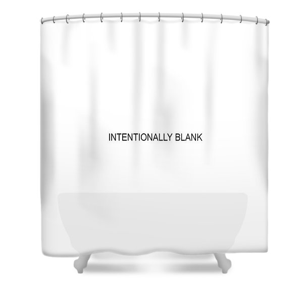Intentionally Blank Shower Curtain