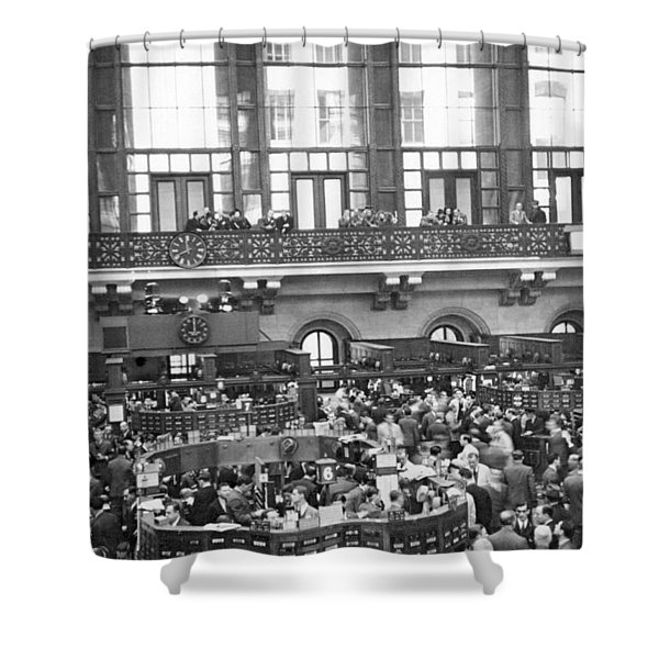 Interior Of Ny Stock Exchange Shower Curtain