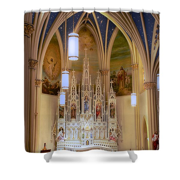 Interior Of St. Mary's Church Shower Curtain