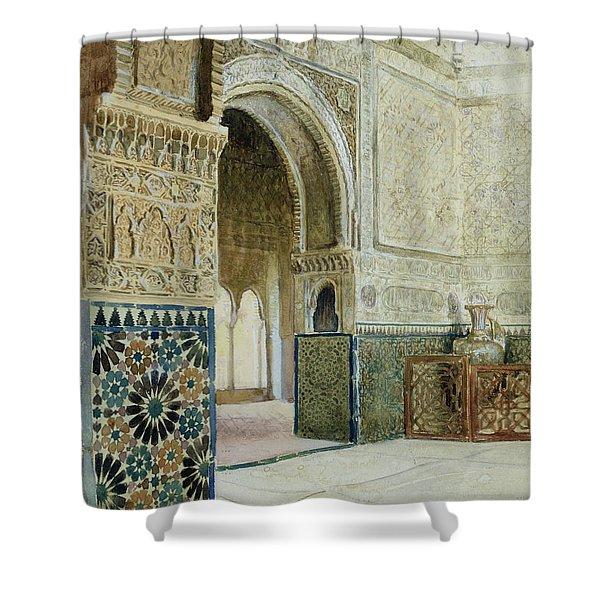 Interior Of The Alhambra  Shower Curtain