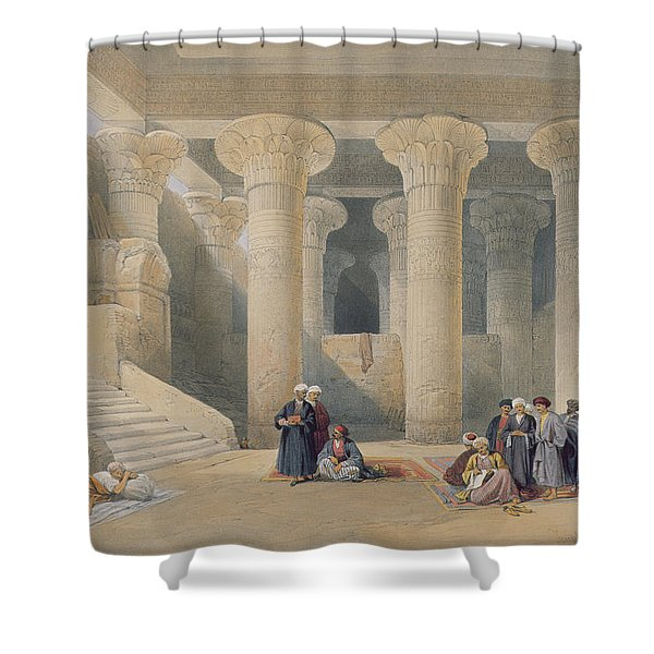Interior Of The Temple At Esna, Upper Egypt, From Egypt And Nubia, Engraved By Louis Haghe Shower Curtain