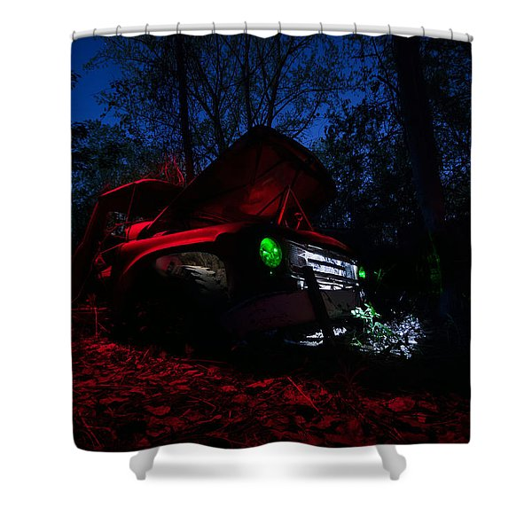 International At Night Shower Curtain