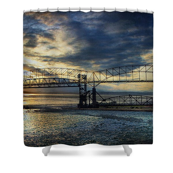 International Blues Shower Curtain
