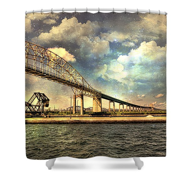 International Bridge Sault Ste Marie Shower Curtain
