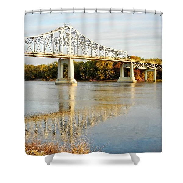 Interstate Bridge In Winona Shower Curtain