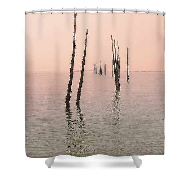 Into The Pink Sunset... Shower Curtain