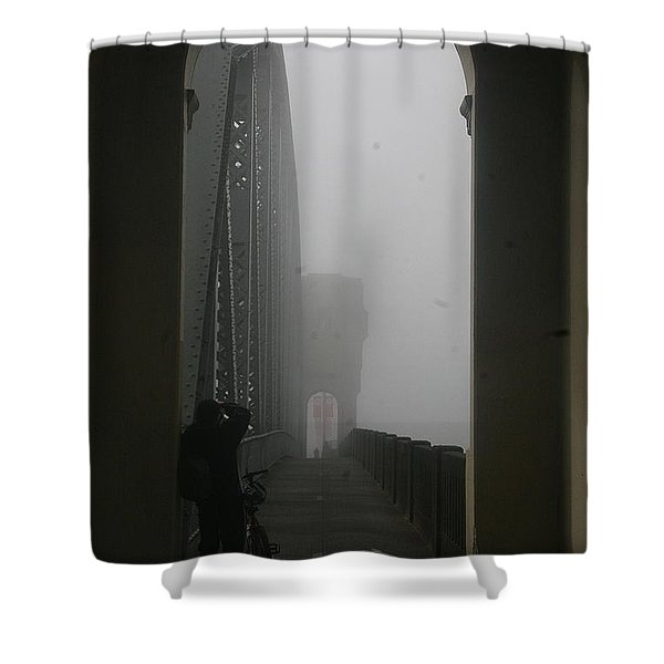 Into The Void Shower Curtain