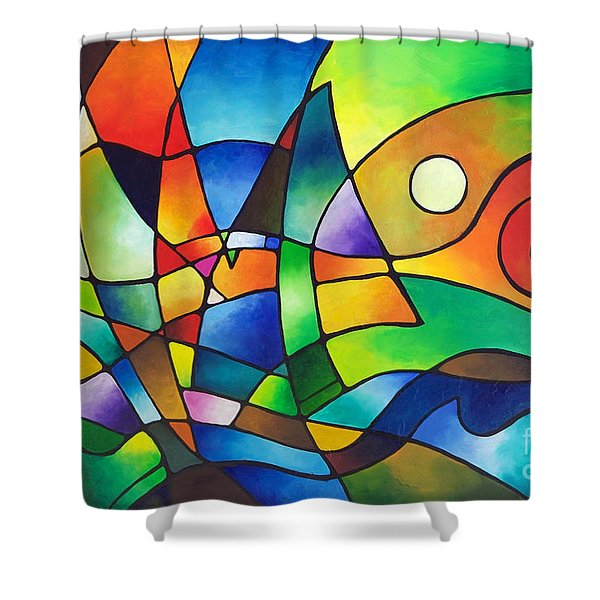 Into The Wind Shower Curtain