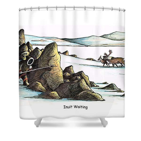 Inuit Waiting Shower Curtain