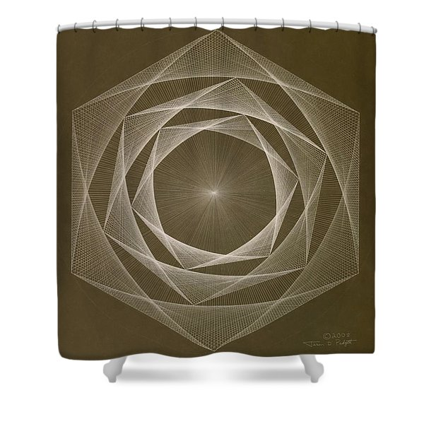Inverted Energy Spiral Shower Curtain
