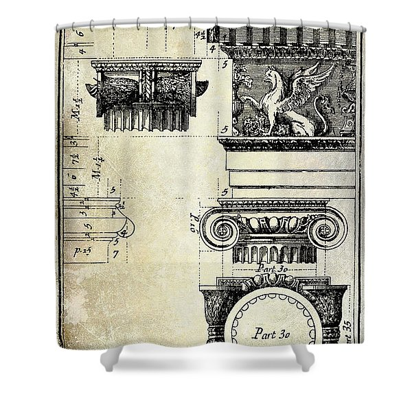 Ionic Capitol Shower Curtain