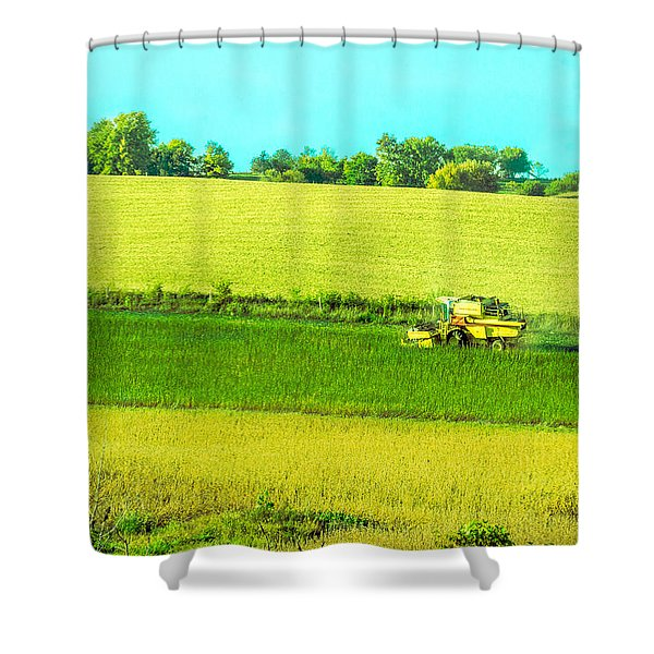 Iowa Farm Land #3 Shower Curtain