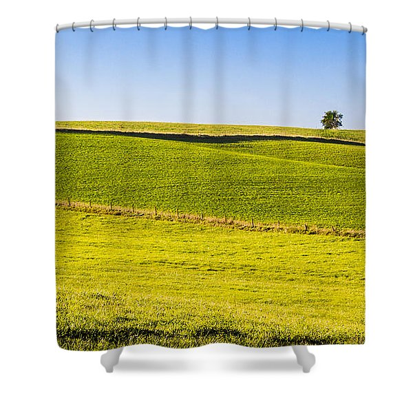 Iowa Farm Land #2 Shower Curtain