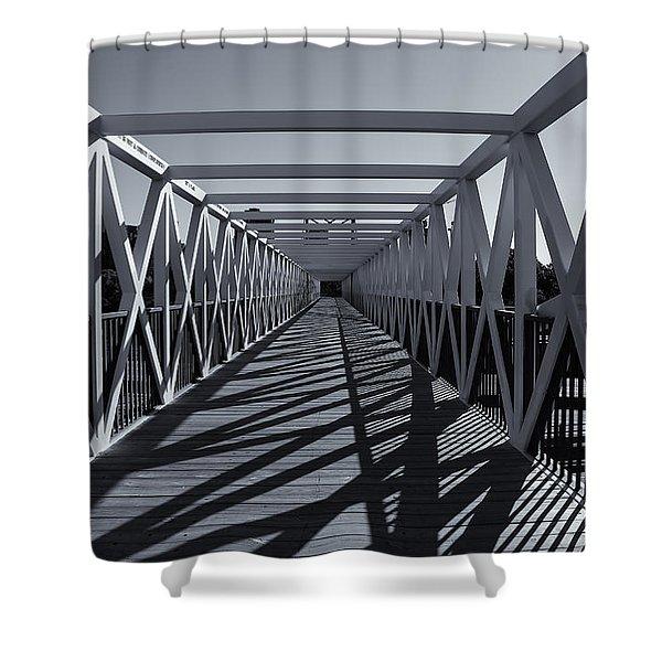 Irene Hixon Whitney Bridge  Mono Shower Curtain
