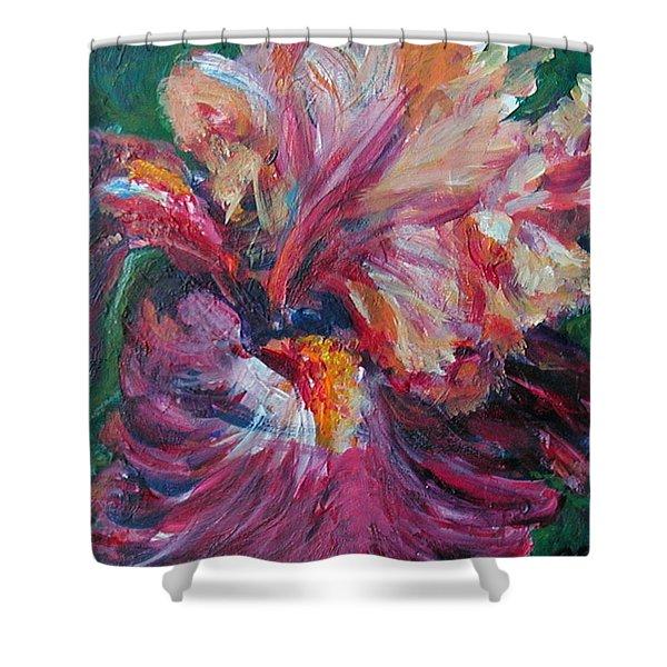Iris - Bold Impressionist Painting Shower Curtain