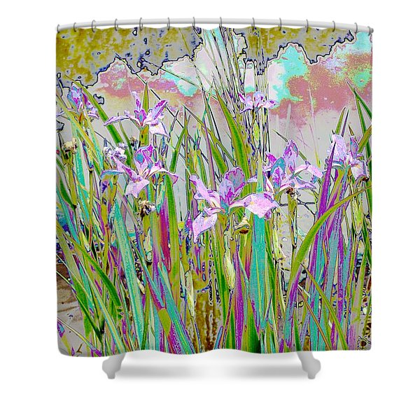 Iris Garden Shower Curtain