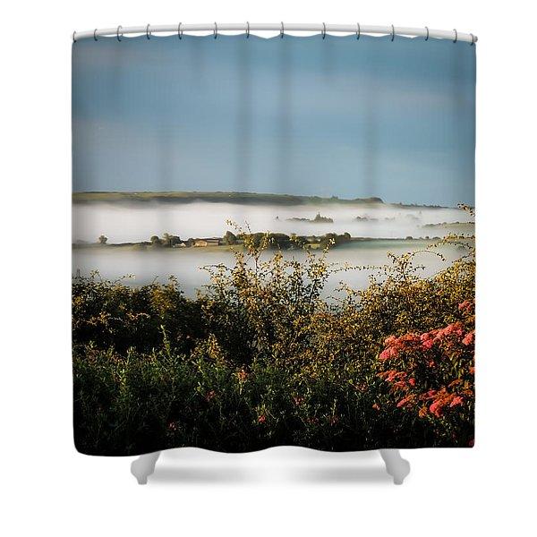 Irish Mist Over Lissycasey Shower Curtain