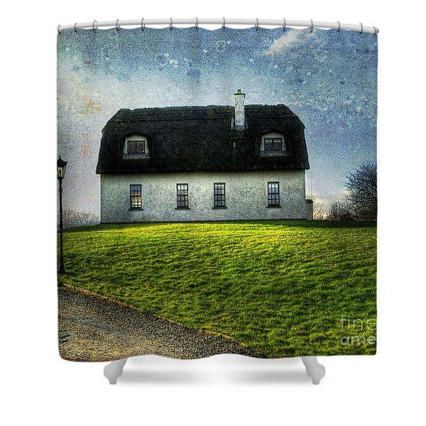Irish Thatched Roofed Home Shower Curtain