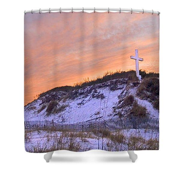 Island Cross Shower Curtain