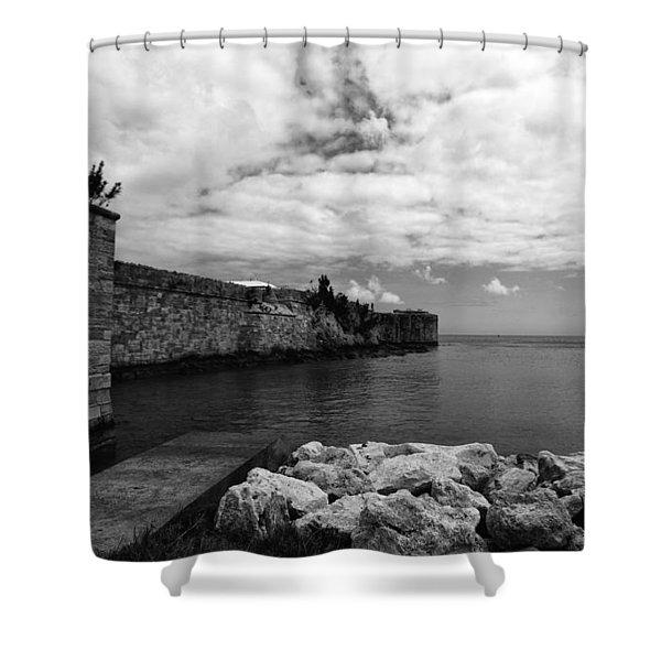 Island Fortress  Shower Curtain
