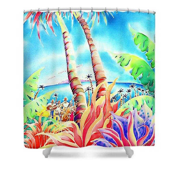 Island Of Music Shower Curtain
