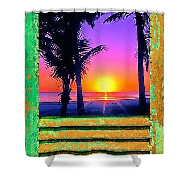 Island Shutter Shower Curtain