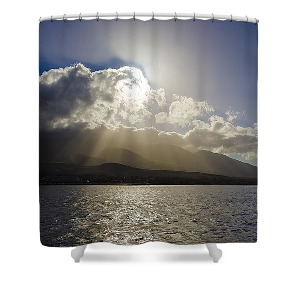 Island Sunset Shower Curtain