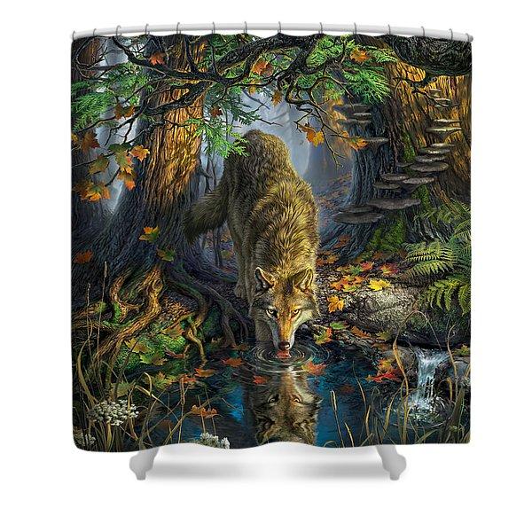 Isle Royale Fall Shower Curtain